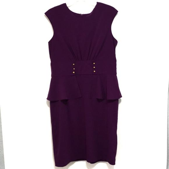 Shelby & Palmer Dresses & Skirts - Shelby & Palmer Purple Peplum Sheath Dress